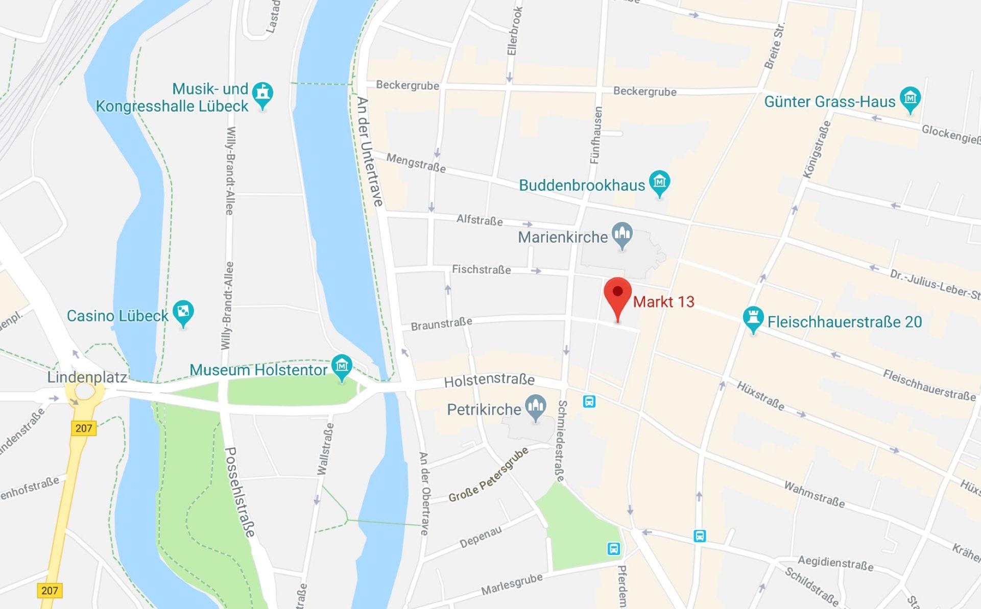 Restaurant Ratskeller zu Lübeck - Anfahrt